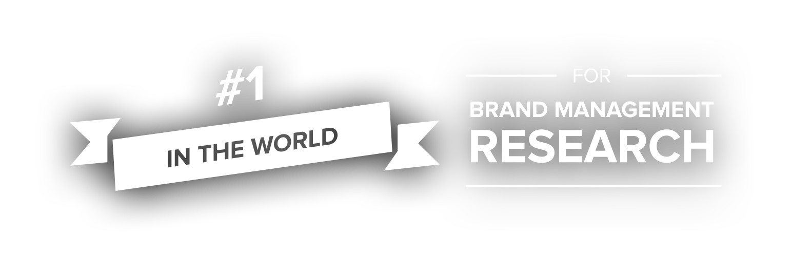 #1 in the world for Brand Management Research